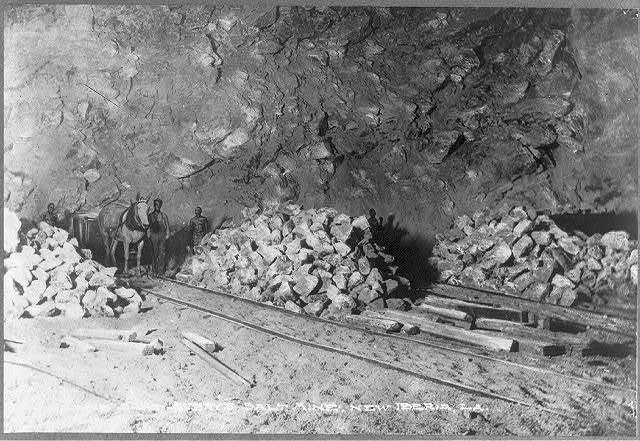 Loading salt Avery's salt mine, New Iberia, La.
