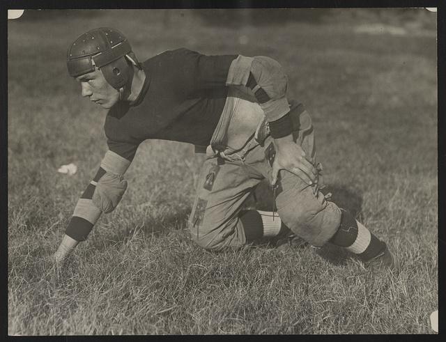 [M. Capper, guard on the football team at Eastern High School, Washington, D.C.]