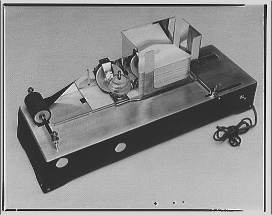 Machines. Letter sealing machine II