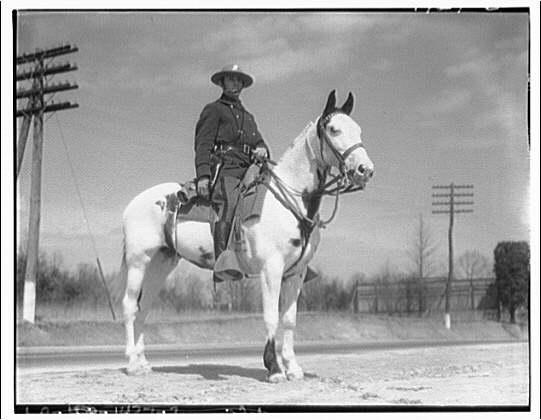 Maryland mounted police. Mounted policeman I