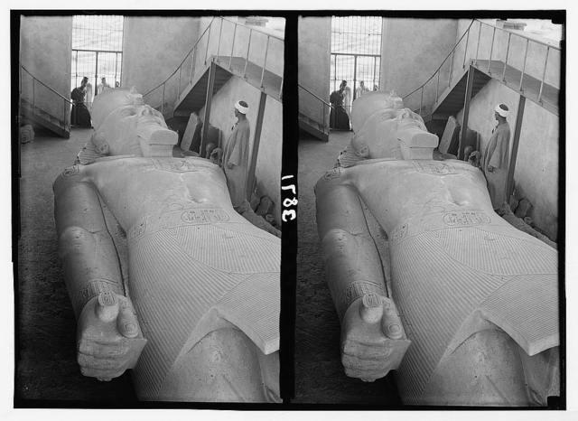 Memphis. Colossal statue of Rameses [i.e., Ramses] II. Near Memphis