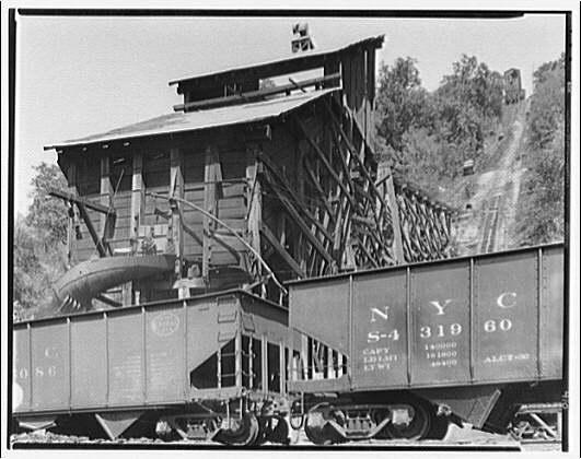 Mine tipple in West Virginia. Typical mine tipple