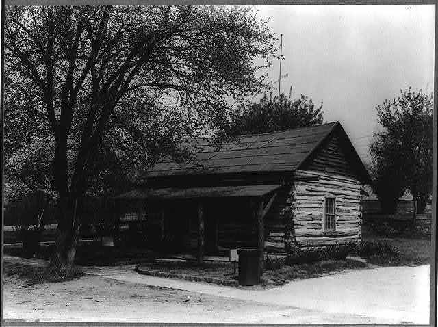 Minnesota. Rochester. The log cabin one of the first houses.
