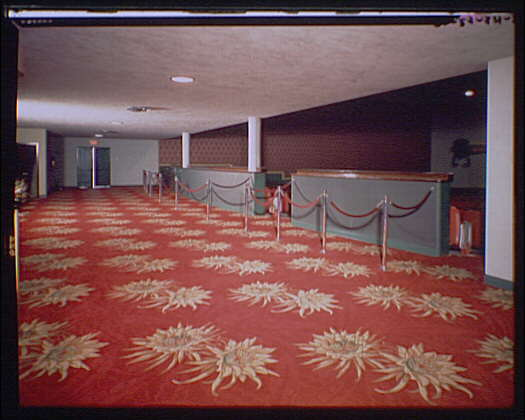 Miscellaneous building interiors. Theater lobby V