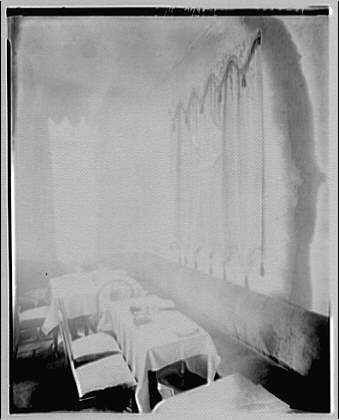 Miscellaneous interiors. View of unidentified dining room corner I