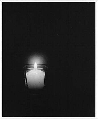 Miscellaneous subjects. Burning candle