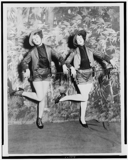 Miss Blanche Lehman and Miss Tereta Sheaffer in dance number of the second edition of Uncle Sams Follies]