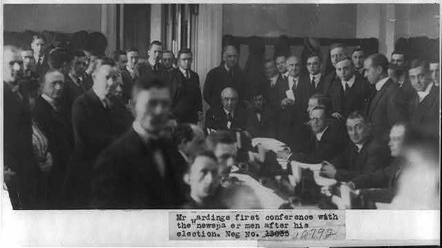 Mr. Harding's first conference with the newspapermen after his election