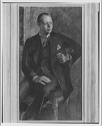Mrs. Burden. Portrait painting of man