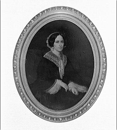 Mrs. Eustis, 1534 28th Street, N.W., number 2220. Portrait painting of woman in oval frame
