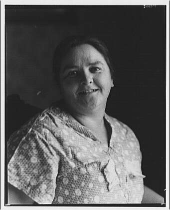 Mrs. J.W. Miller and her home, Sergent Rd., Maryland. Portrait of Mrs. Miller I