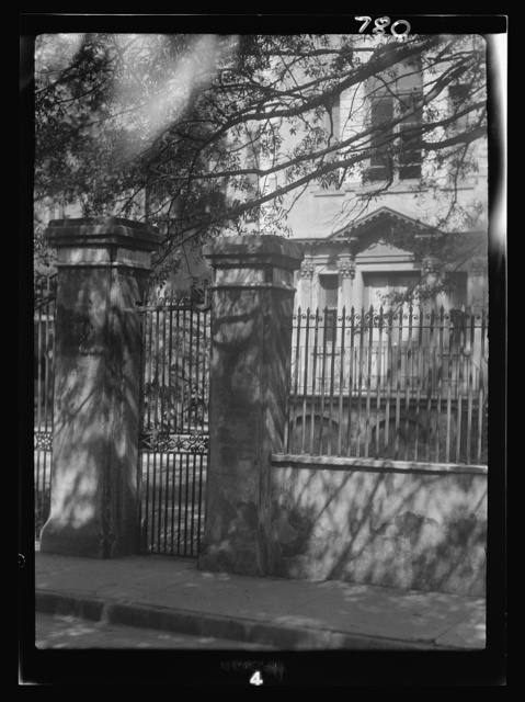 Multi-story house behind a fence, New Orleans or Charleston, South Carolina