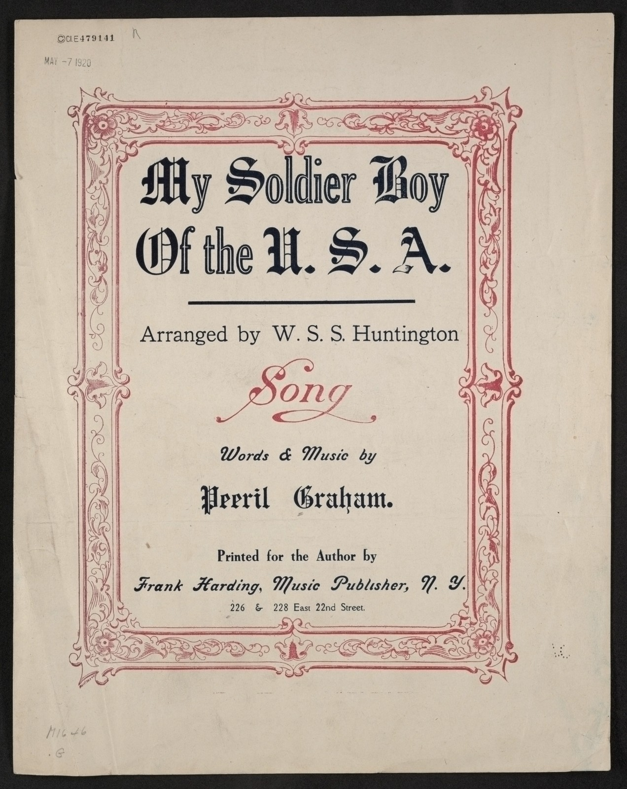 My soldier boy of the U.S.A song