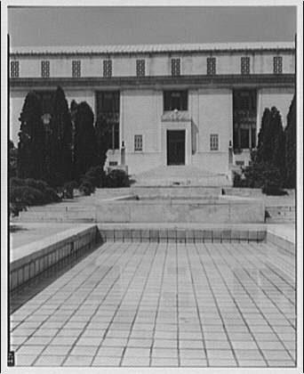 National Academy of Sciences. Front entrance of National Academy of Sciences, vertical II