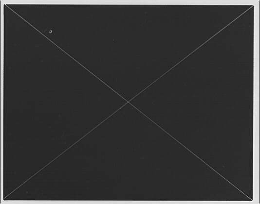 National Archives. Dark background with two white diagonal lines intersecting in middle
