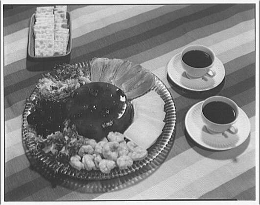National Canners Association. Hors d'oevres and crackers with two cups of coffee II