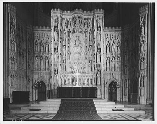 National Cathedral interiors. Main altar in National Cathedral