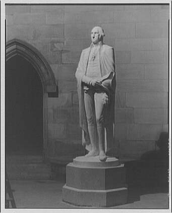 National Cathedral interiors. Statue of George Washington in National Cathedral IV