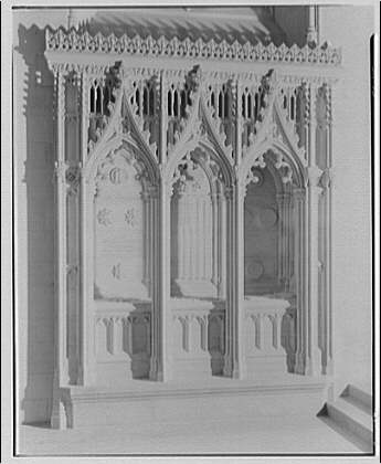 National Cathedral interiors. Tomb of Larz Anderson in National Cathedral II
