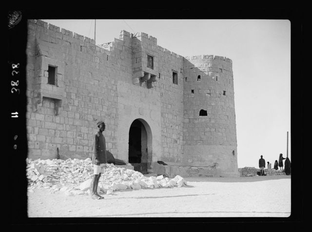 Nekhel. Ancient pilgrim fortress showing main entrance and corner tower