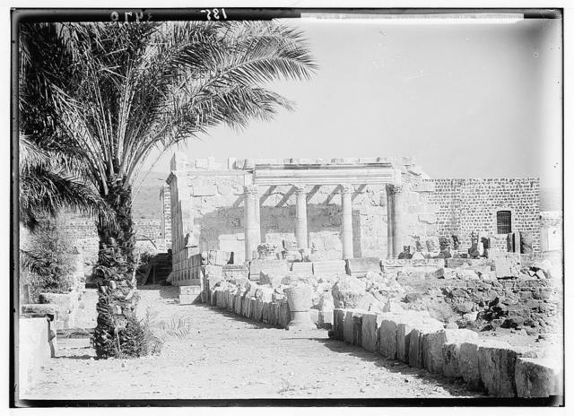 Northern views. Capernaum. Tell Hum. The restored synagogue