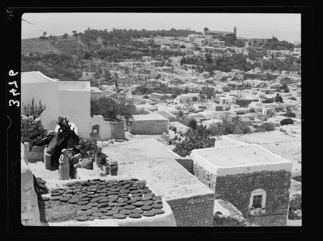 Northern views. Safad looking across the town showing Greek convent on horizon