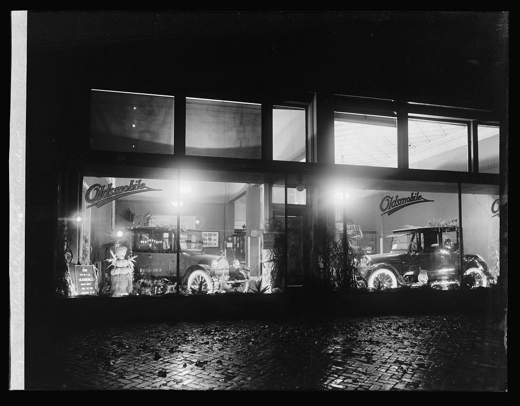 Oldsmobile Sales Co. window