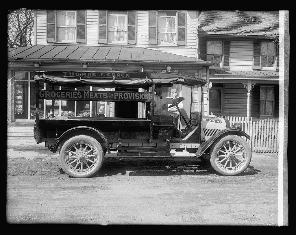 Oldsmobile truck, Thos. J. Crack