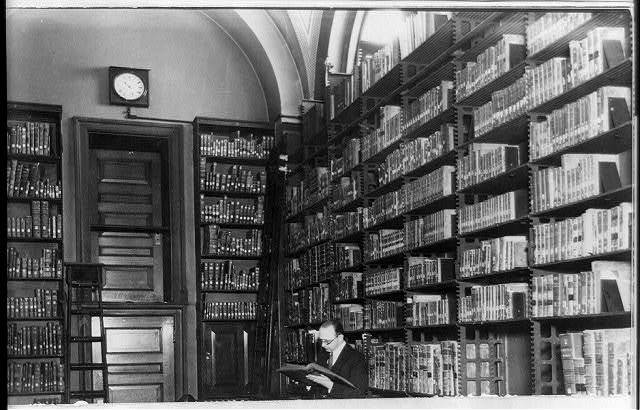 [One of the stacks in the Library of Congress, Washington, D.C.]