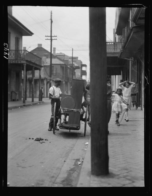 Organ grinder, New Orleans
