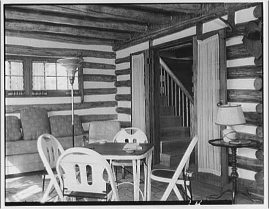 Otis Johnson. Cabin in mountains X