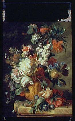 Paintings. Painting by Jan Van Huysum, lecit year of 1724