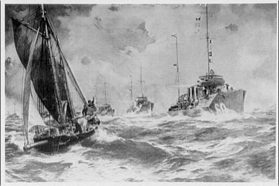 Paintings. World War battle scenes IV