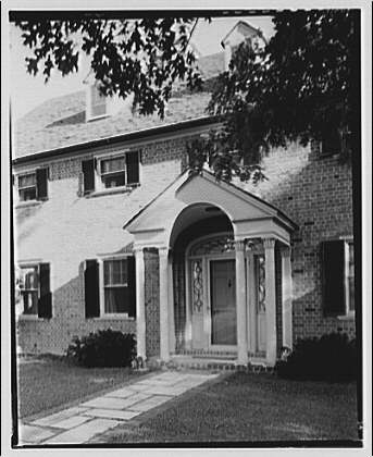 Paterson country house, Point Farm, by Schuyler & Lounsbery. Entrance facade of Paterson country house