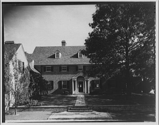 Paterson country house, Point Farm, by Schuyler & Lounsbery. Exterior of Paterson country house, front facade
