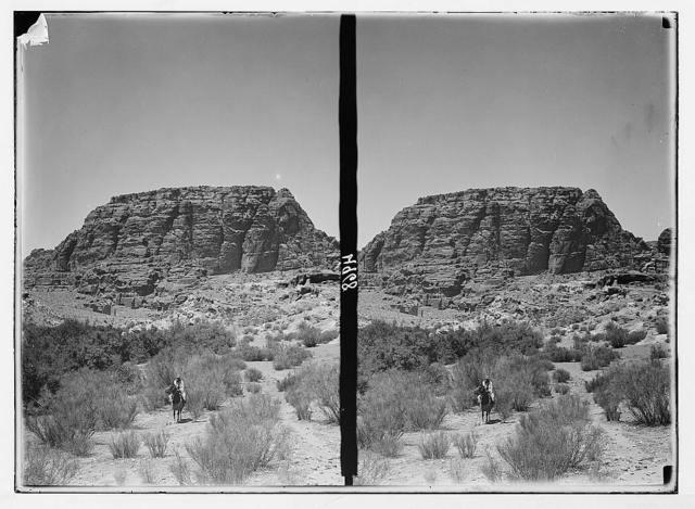 Petra (Wadi Musa). Umm el-Biyrah. (Earliest Nabatean stronghold). A general view