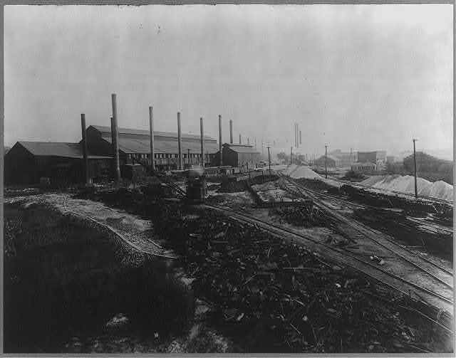Pig iron storage yard, plant no. 2