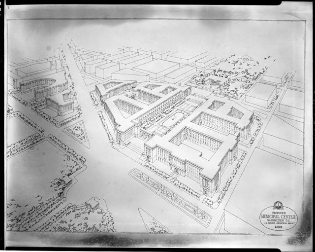 Plans for proposed building projects in Washington, D.C. Plan for proposed Municipal Center, 1927 II