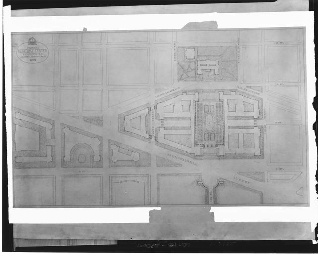Plans for proposed building projects in Washington, D.C. Plan for proposed Municipal Center, 1927 I