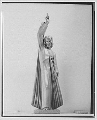 Plaster models of the Christ figure for the Catholic Council Building. Figure of Christ II