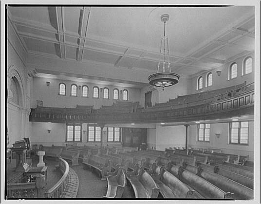 Potomac Electric Power Co. air conditioning and lighting. Church on 5th and Pennsylvania Ave. S.E. I