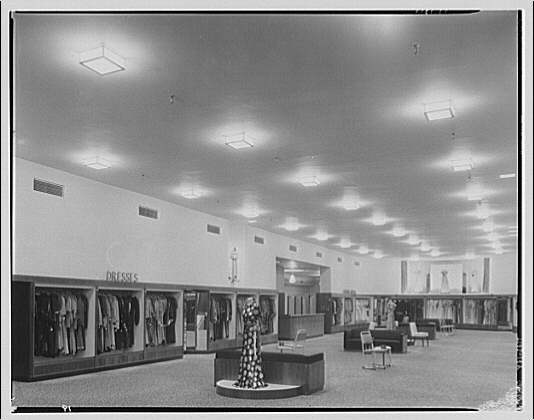Potomac Electric Power Co. air conditioning and lighting. Dress shop on F St. I