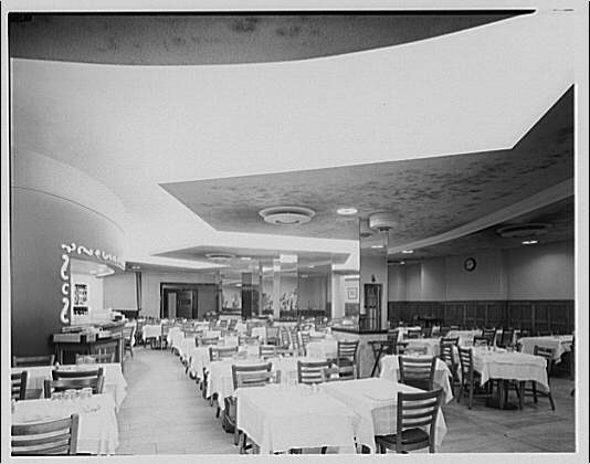 Potomac Electric Power Co. air conditioning and lighting. Max Gordon's Sea Food Restaurant on Columbia Rd. I