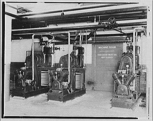 Potomac Electric Power Co. air conditioning and lighting. Potomac Electric Power Co. basement