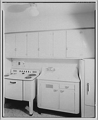 Potomac Electric Power Co. apartments and kitchens. Dinette and kitchen in apartment on Ogden St.