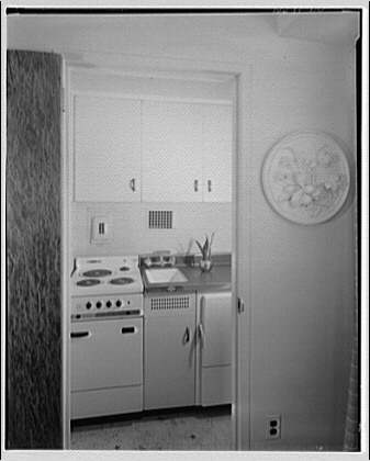 Potomac Electric Power Co. apartments and kitchens. J St. apartment interiors IV