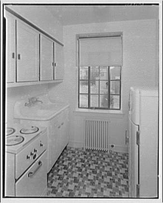 Potomac Electric Power Co. apartments and kitchens. Kitchen in Upshur Apartments