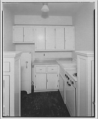 Potomac Electric Power Co. apartments and kitchens. Kitchens in an apartment III