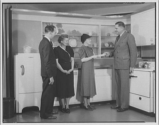 Potomac Electric Power Co. apartments and kitchens. Prize winners of a General Electric range I