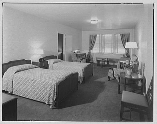 Potomac Electric Power Co. apartments and kitchens. Shoreham Hotel, rooms and kitchen I